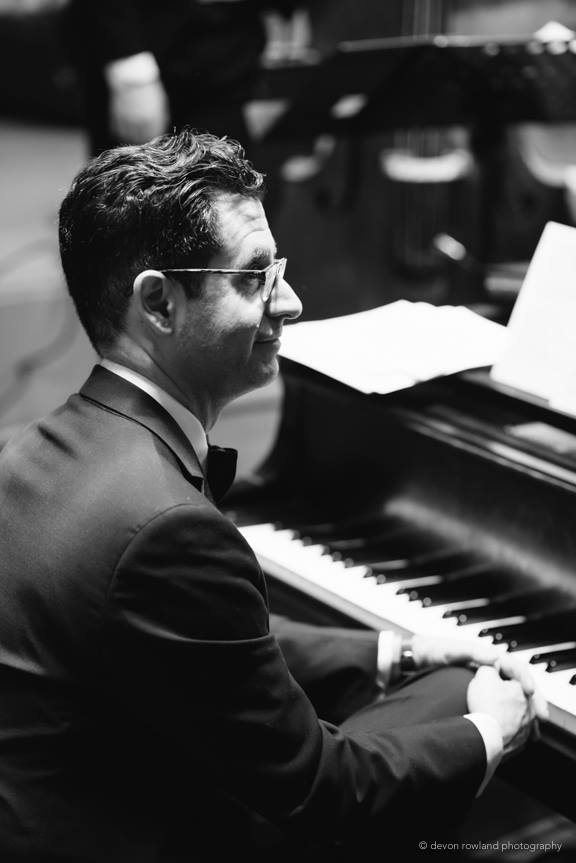 Craig Gildner playing Piano in the Glen Echo Spanish Ballroom